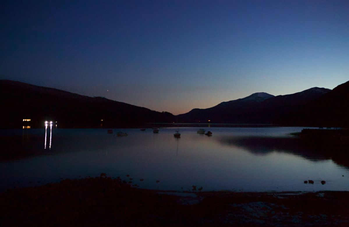 Loch Tay at night