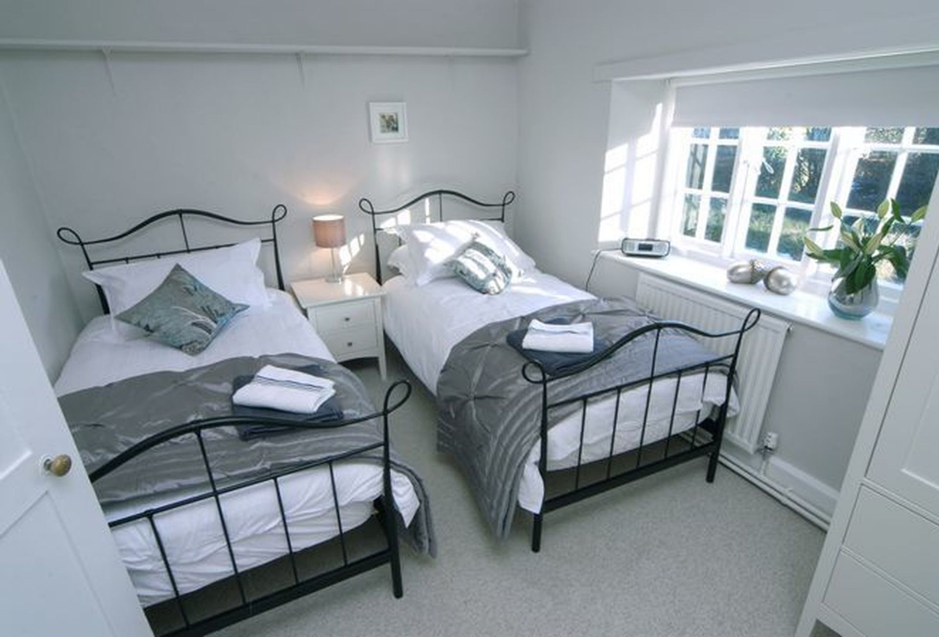 First Floor: a twin-bedded room