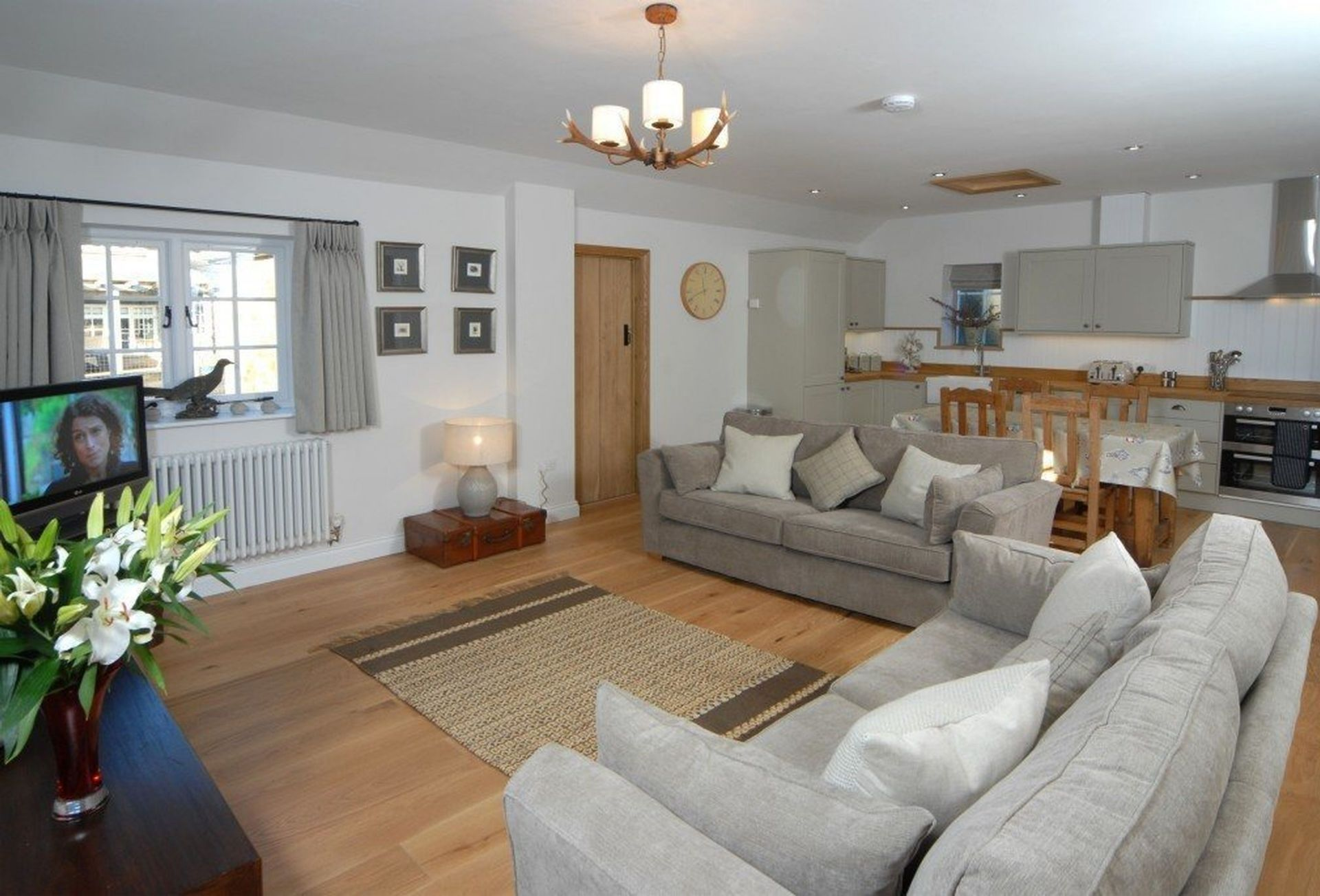 A view of the open plan Living area