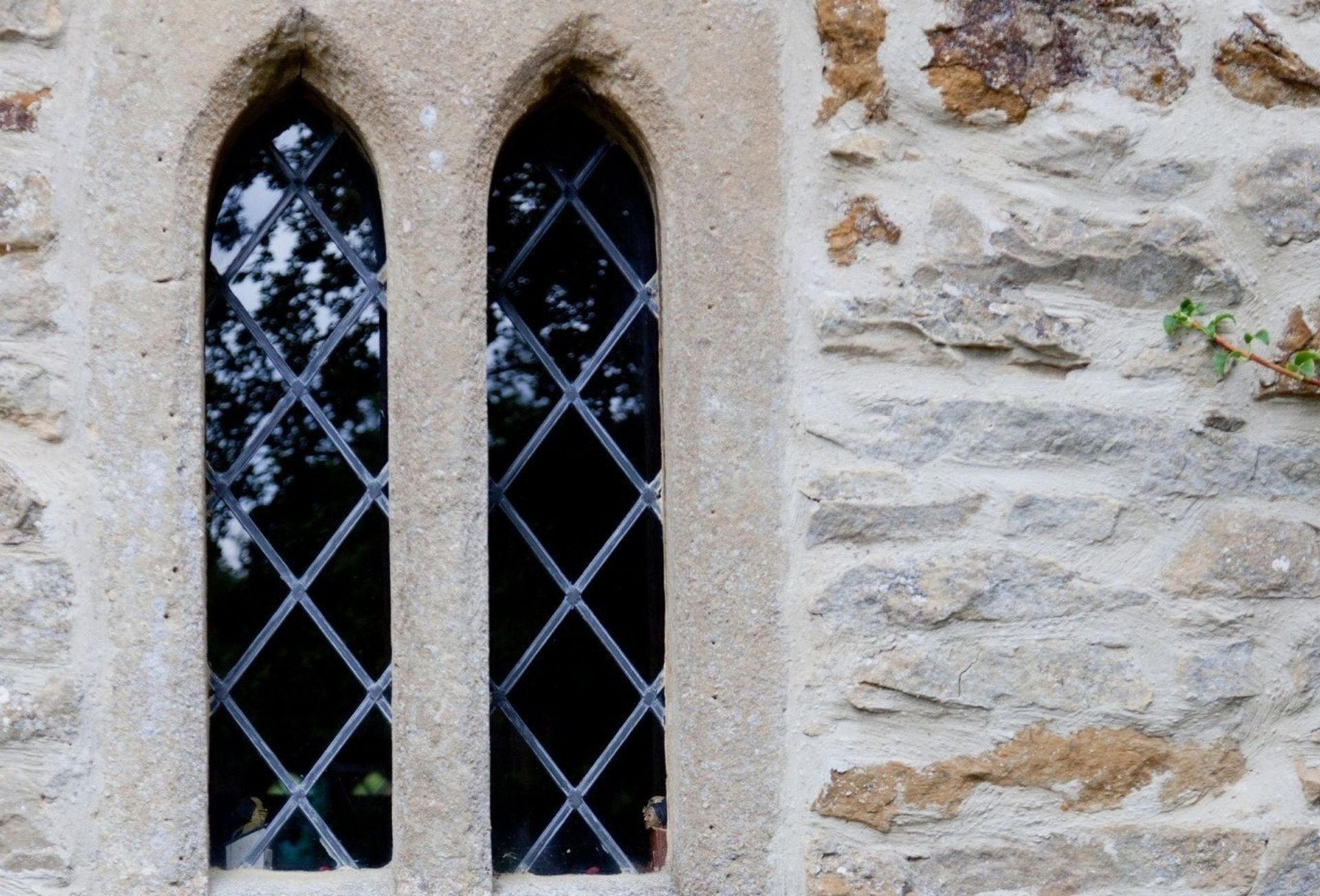 Exterior wall and window detail