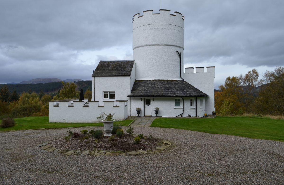 The White Tower of Taymouth Castle, Perthshire, Scotland