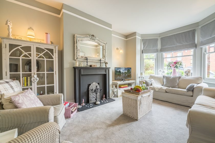 Ground floor: Danes House has a spacious sitting room with bay window