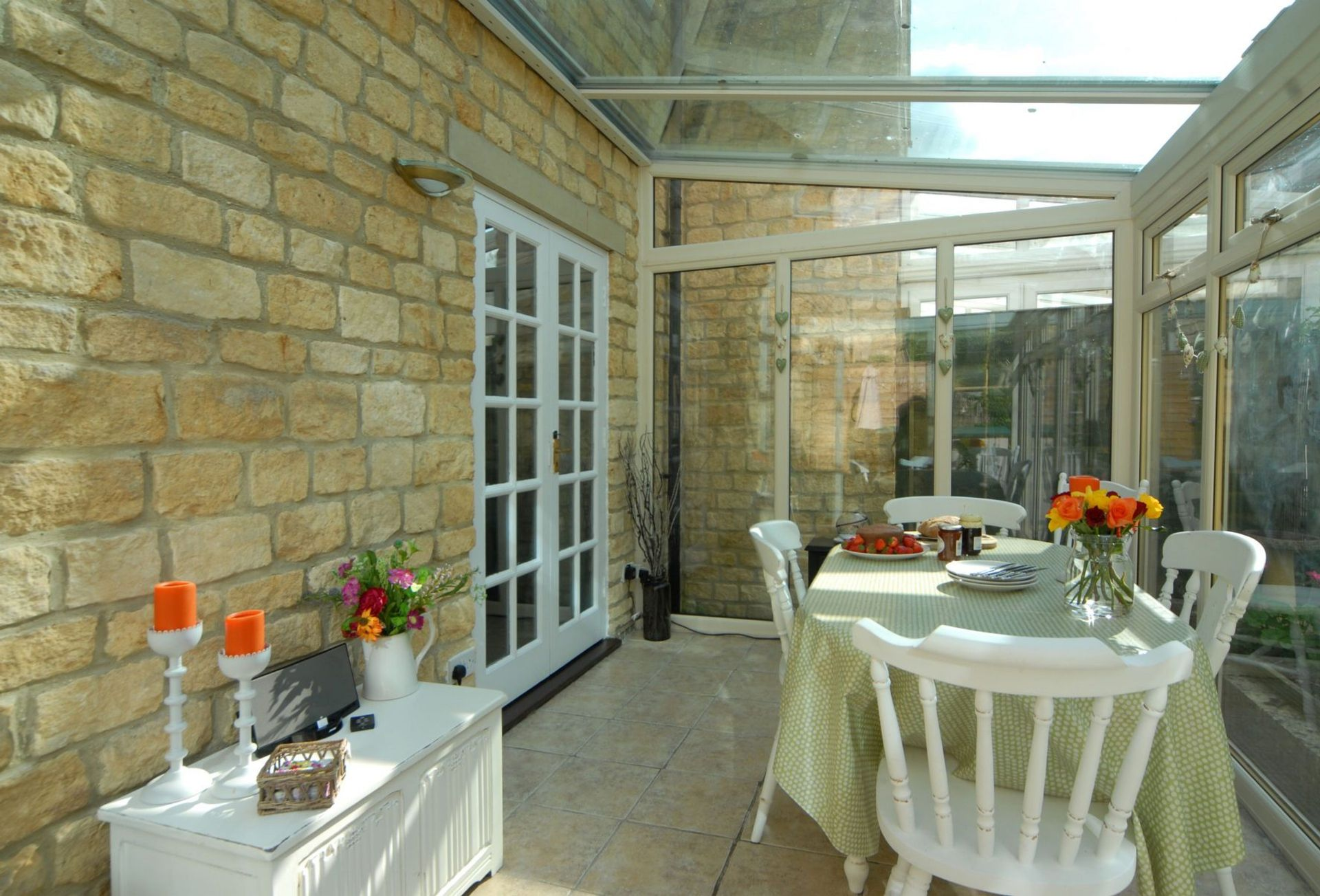 A view of the dining conservatory