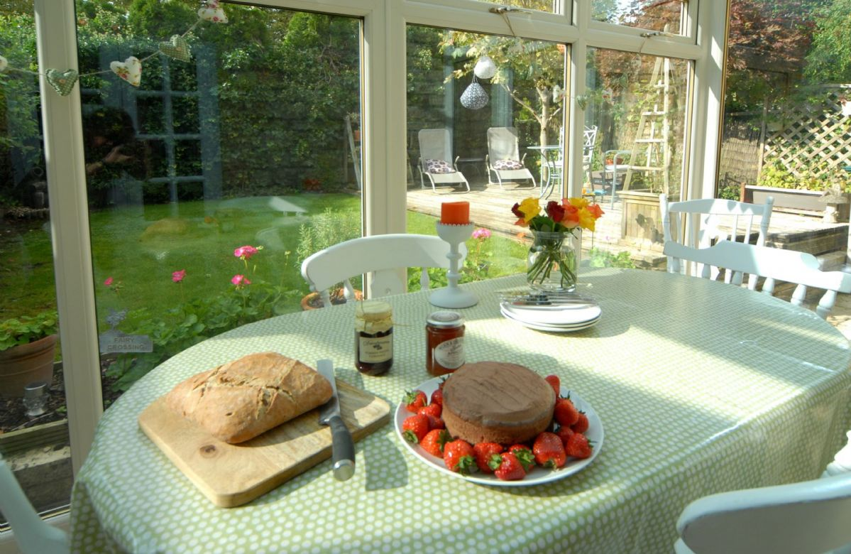 Ground floor: Dining conservatory with views to the garden