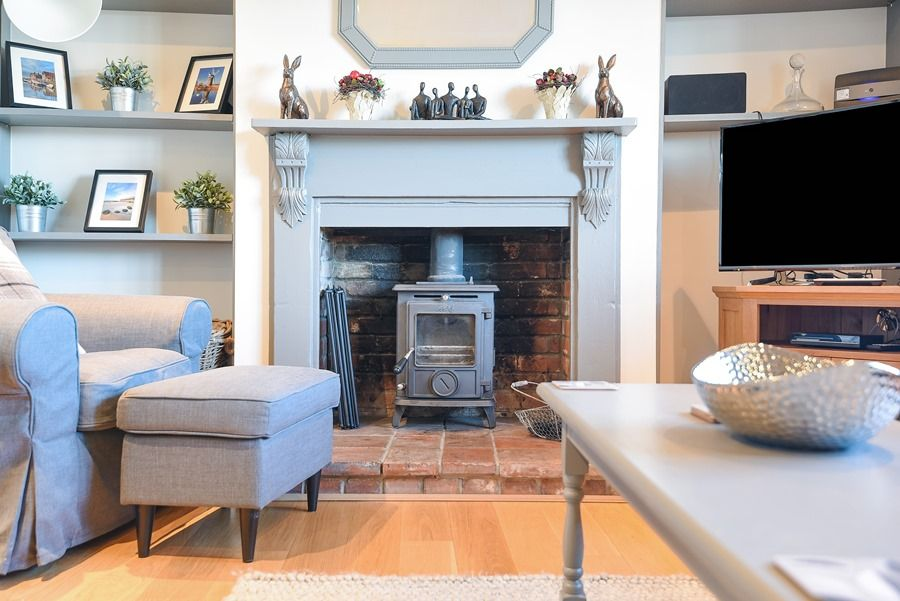 The Old Forge | Sitting room fireplace