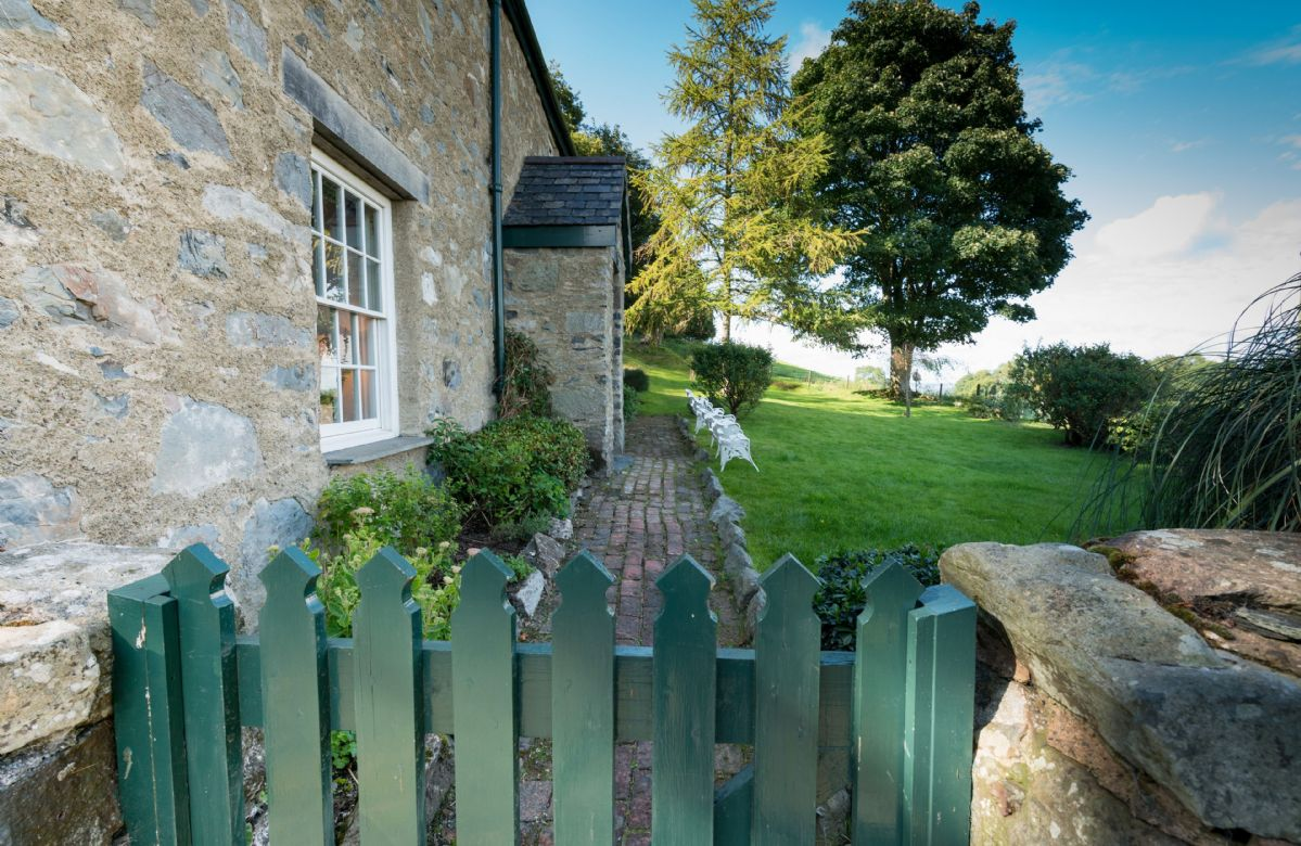 Garden furniture is provided to allow you to sit and enjoy the views