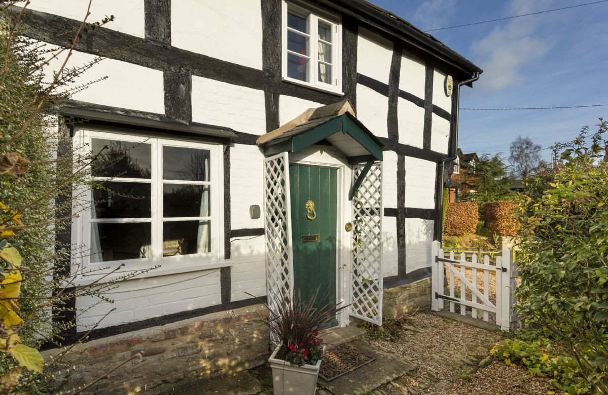 This classic black and white cottage is set on north Herefordshire's Black and White Village Trail