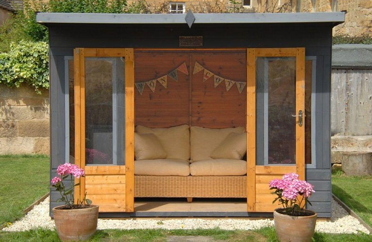 Outside: the summer house