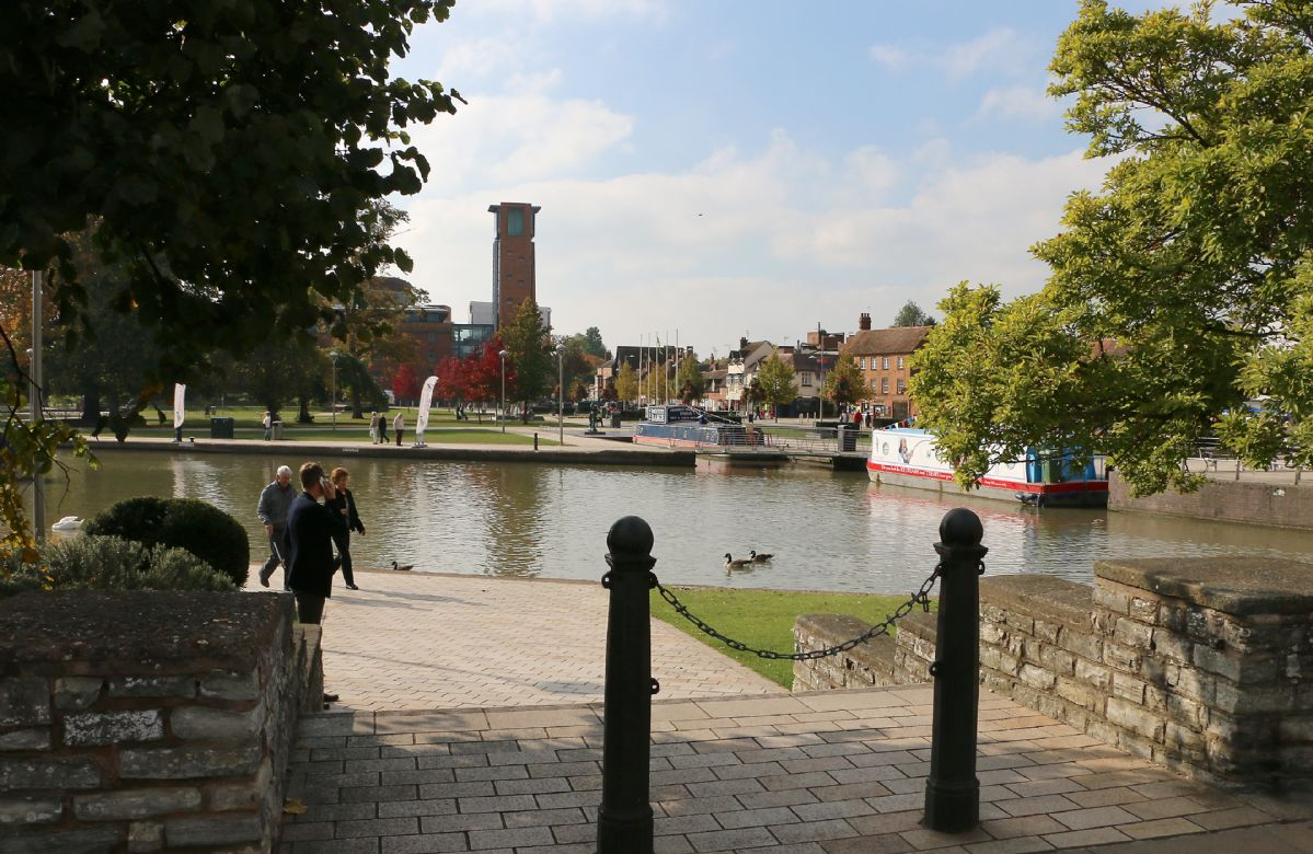 Stratford-upon-Avon with its links to William Shakespeare is 35-40 minutes from the property