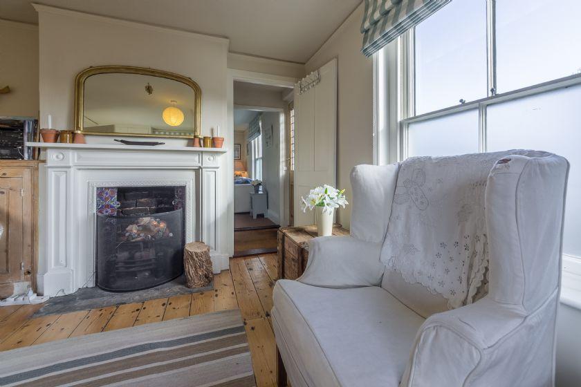 Ground floor: Sitting room open fire