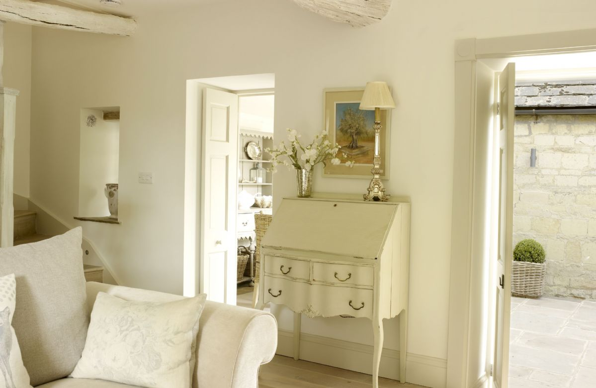 Sophisticated styling and a luxurious romantic theme flow seamlessly throughout Rectory Cottage