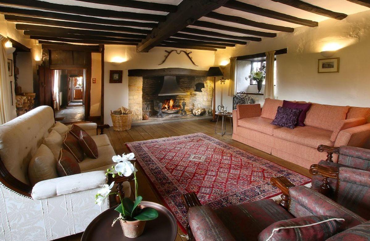 Ground floor: Elegant sitting room  with inglenook fireplace