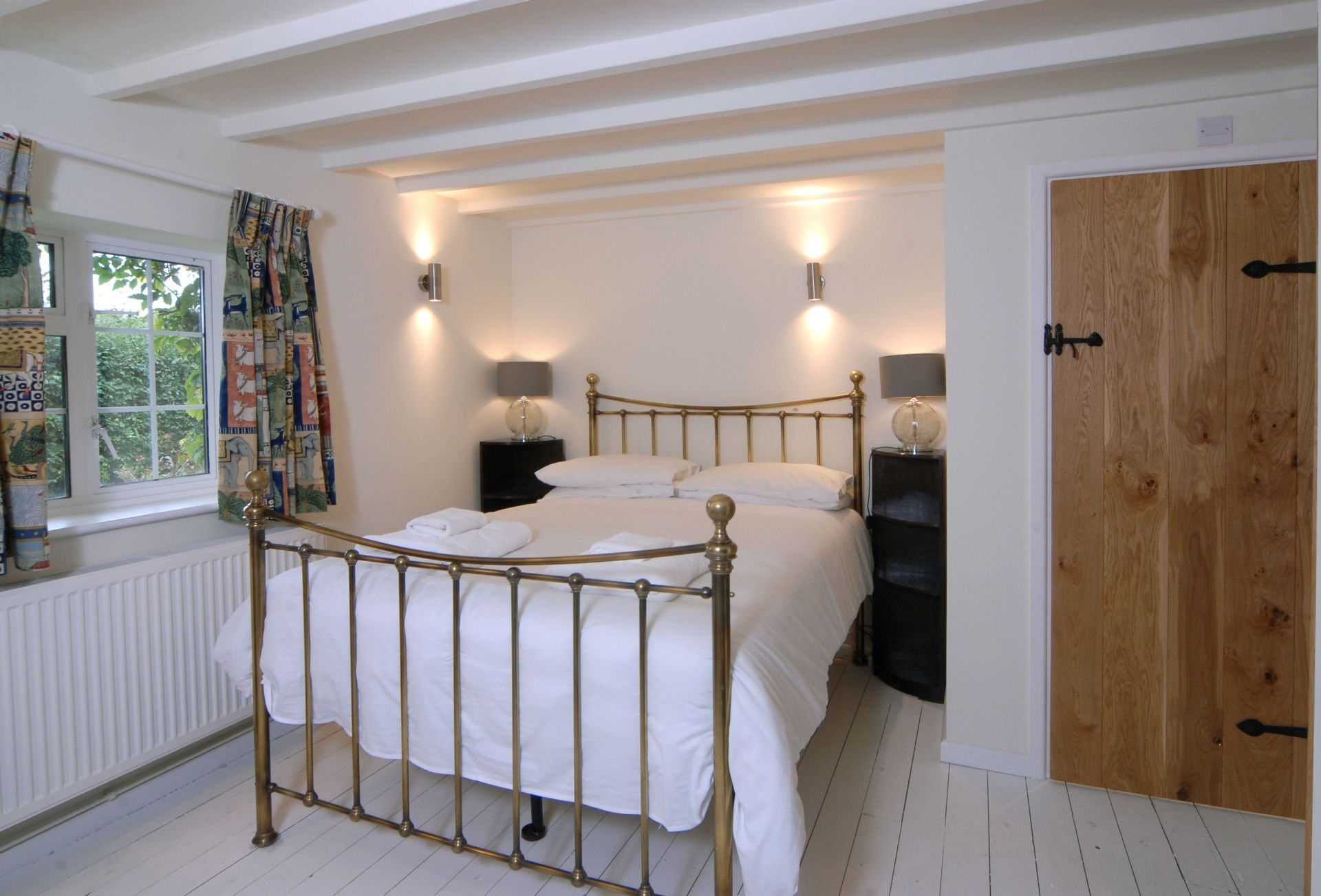Ground floor: Bedroom one with double bed