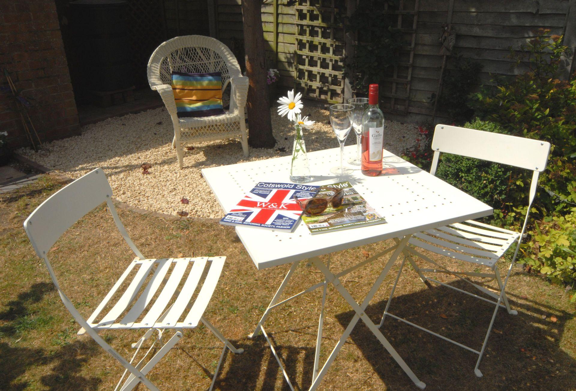 A sunny spot in the patio garden