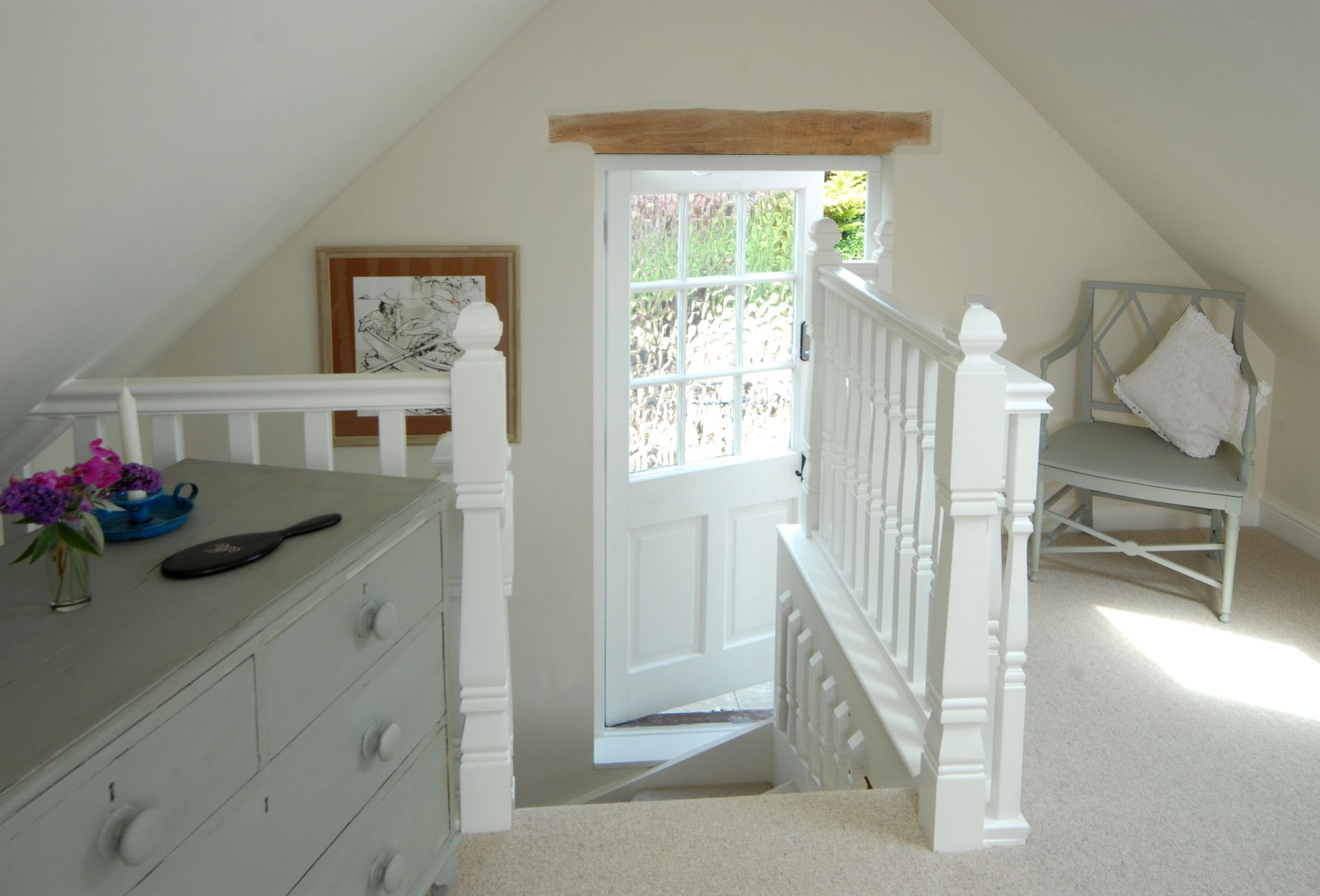 First floor: Stairs leading to the bedroom