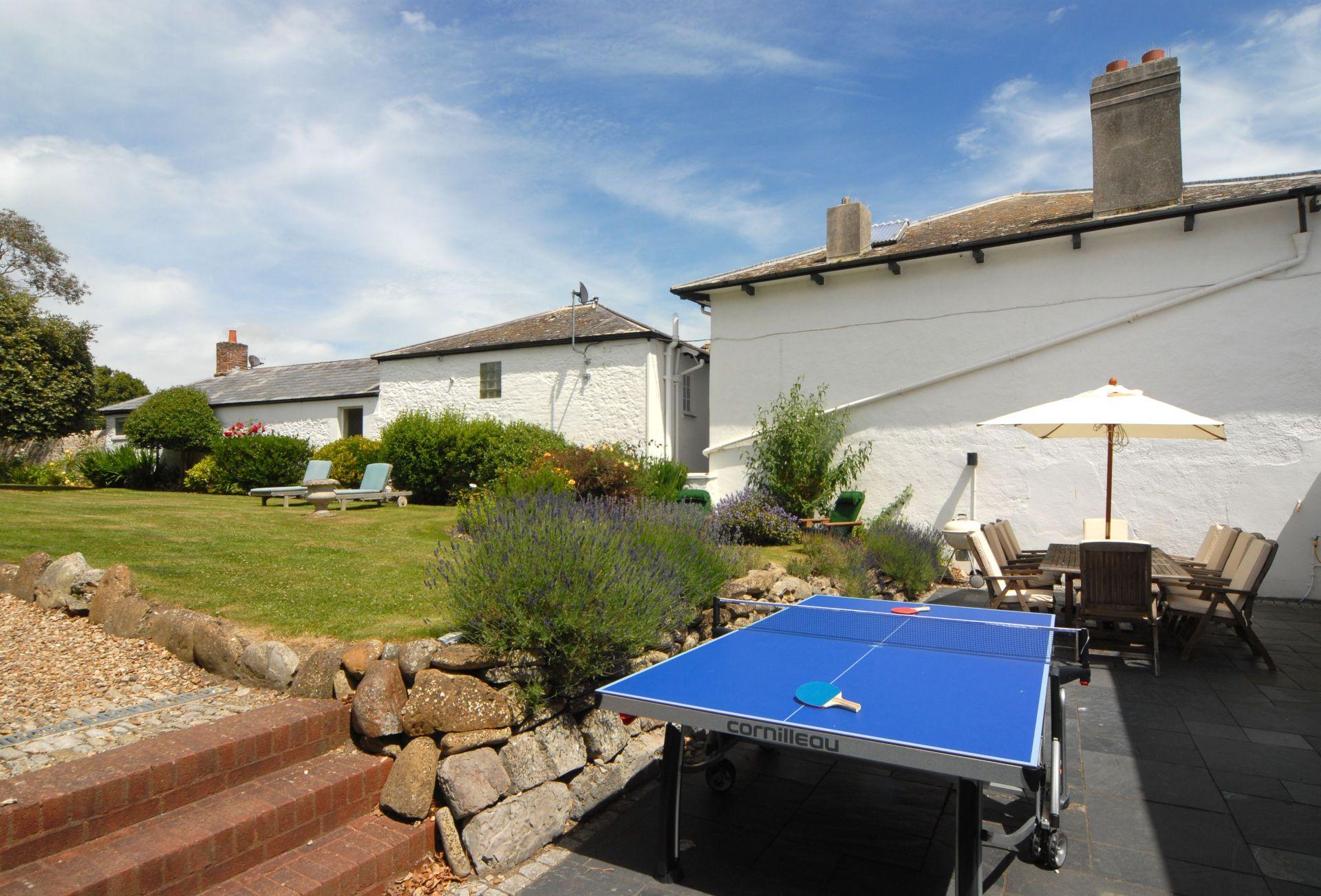 Garden with table tennis