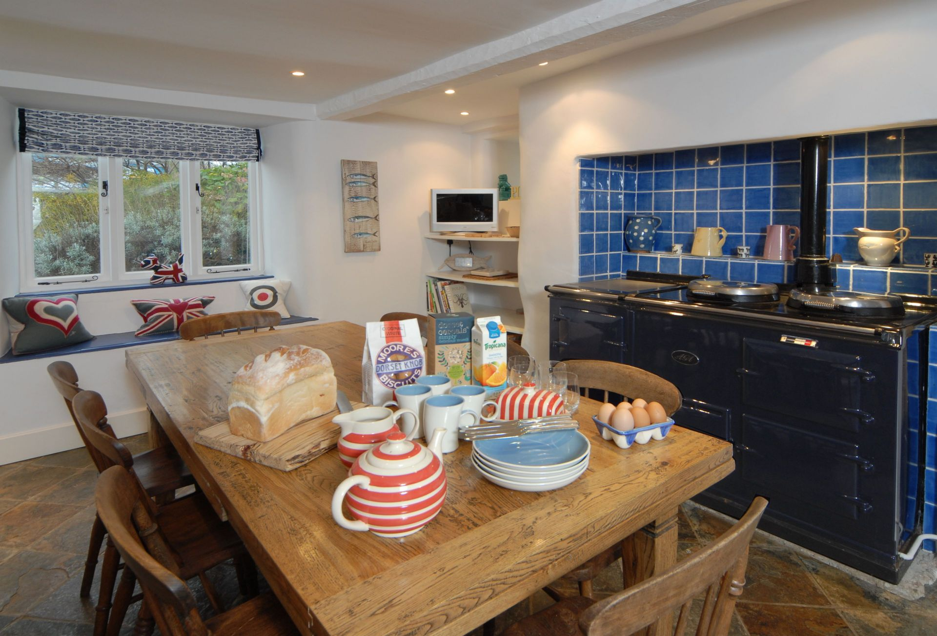 Ground floor:  Kitchen with Aga and dining area