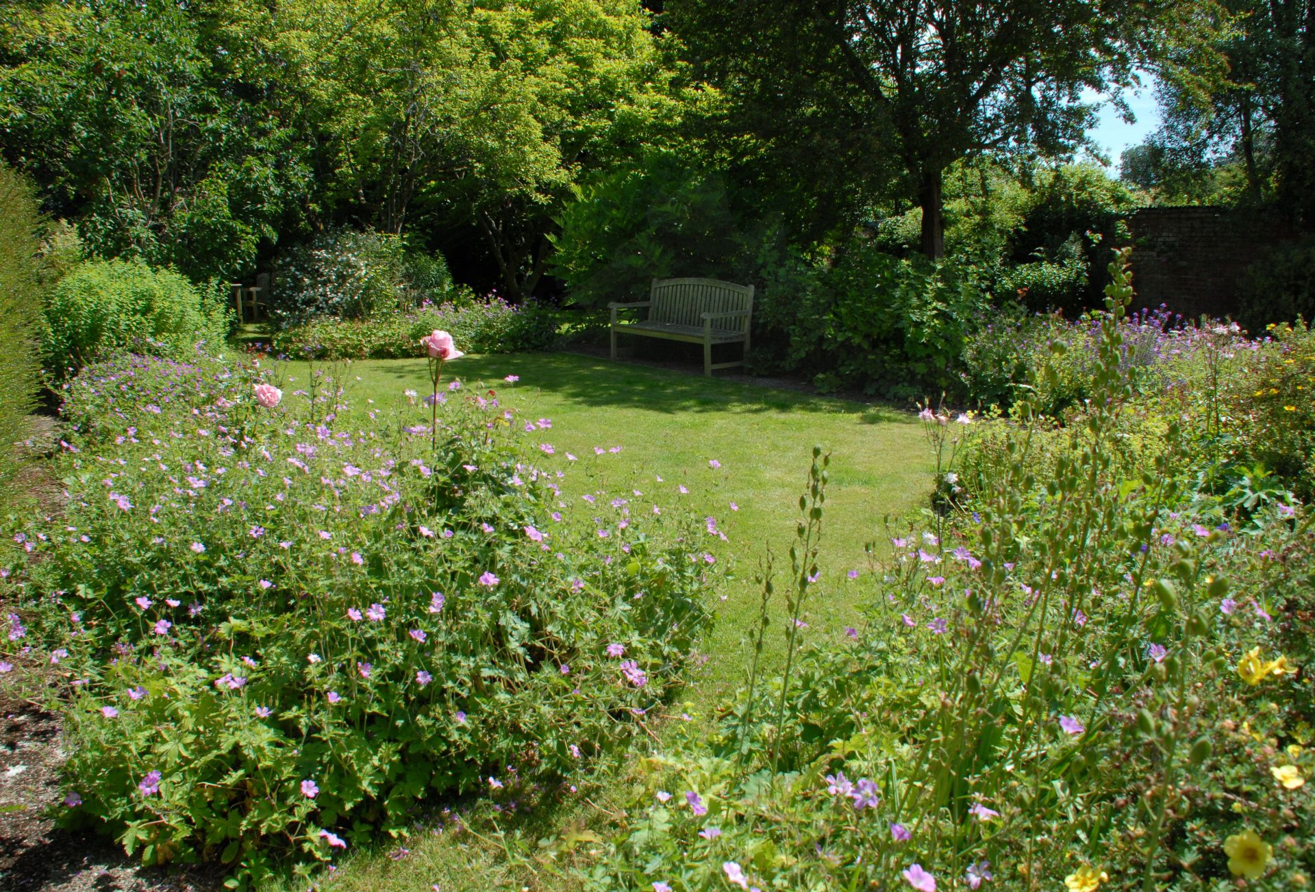 Another view of the pretty cottage garden