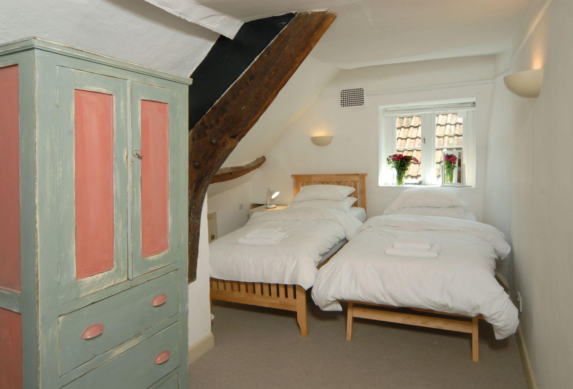 First floor:  Twin bedroom