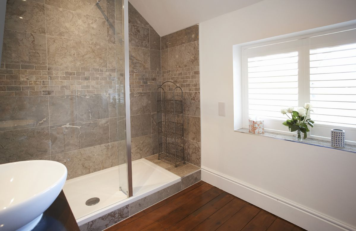 First floor: The Oak bedroom's en-suite shower room