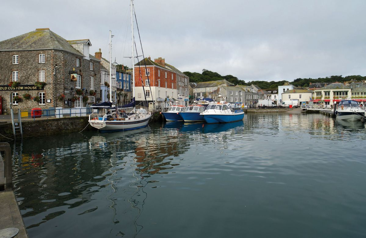The picturesque fishing village of Padstow