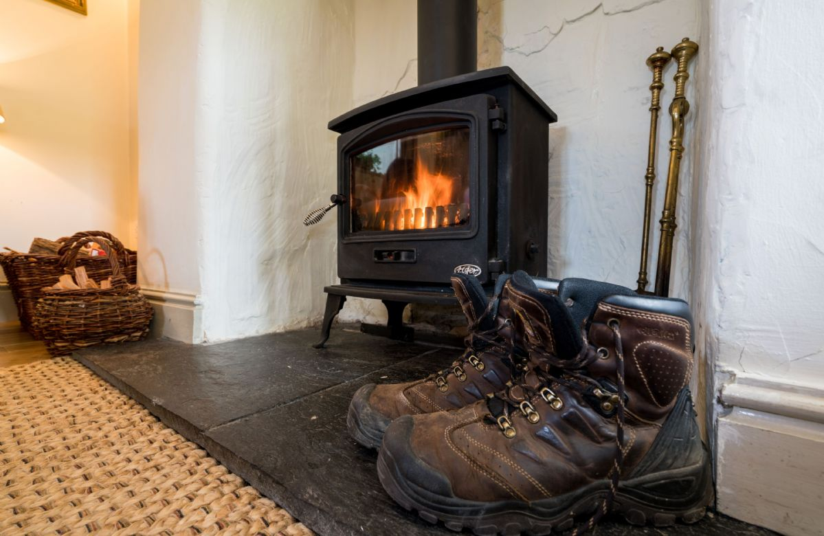 Enjoy the warmth of the woodburning stove after a day of exploring the area