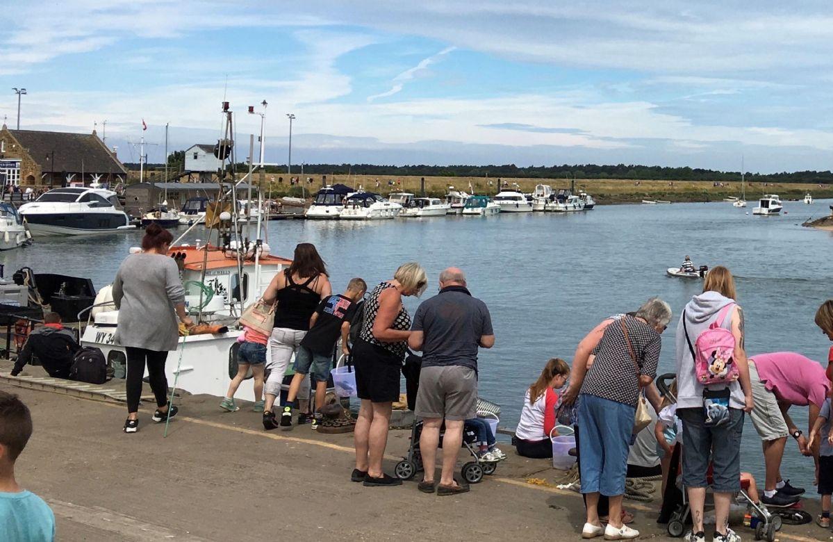 Crabbing at Wells-next-the-Sea