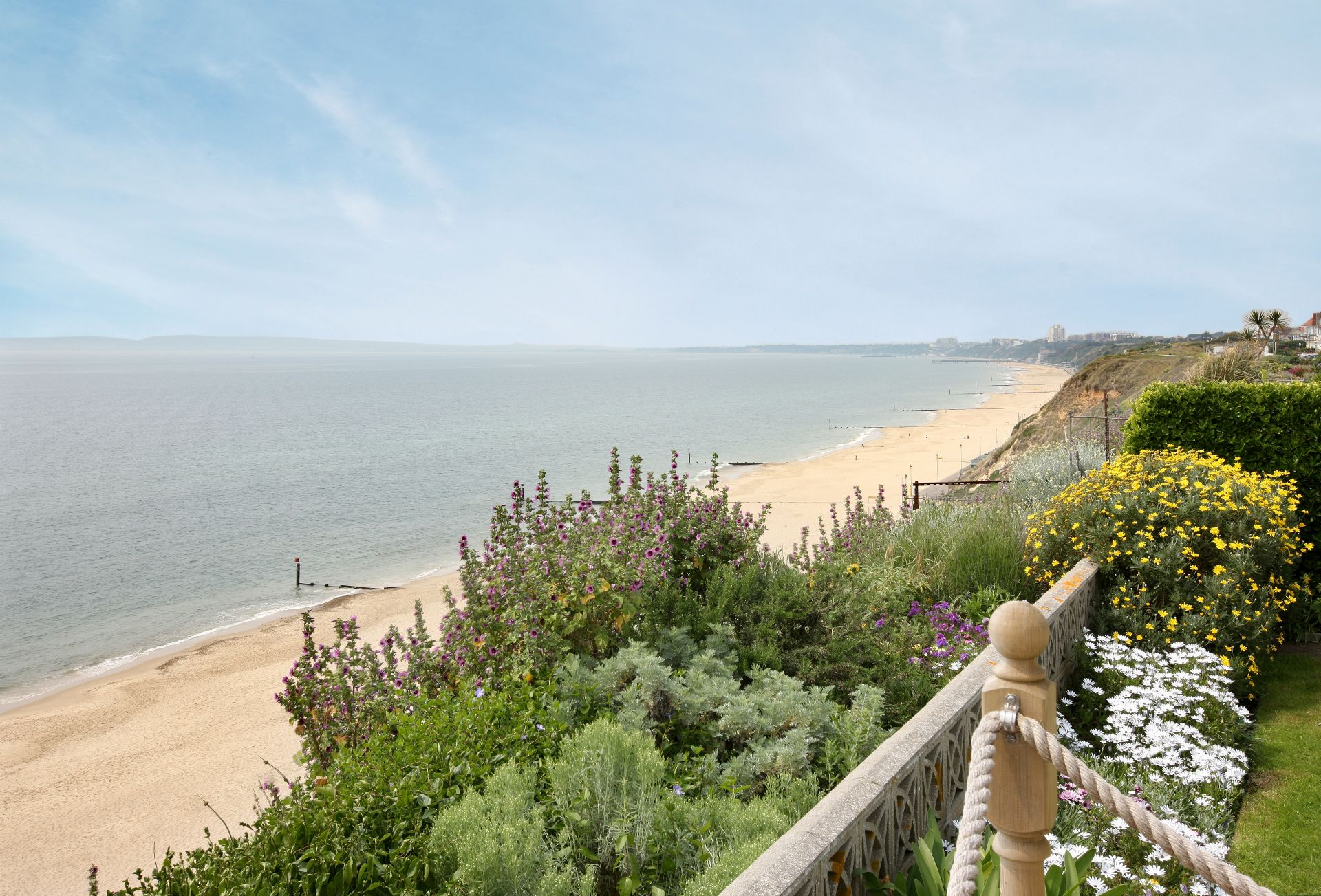 The view from the decking towards Bournemouth and Sandbanks