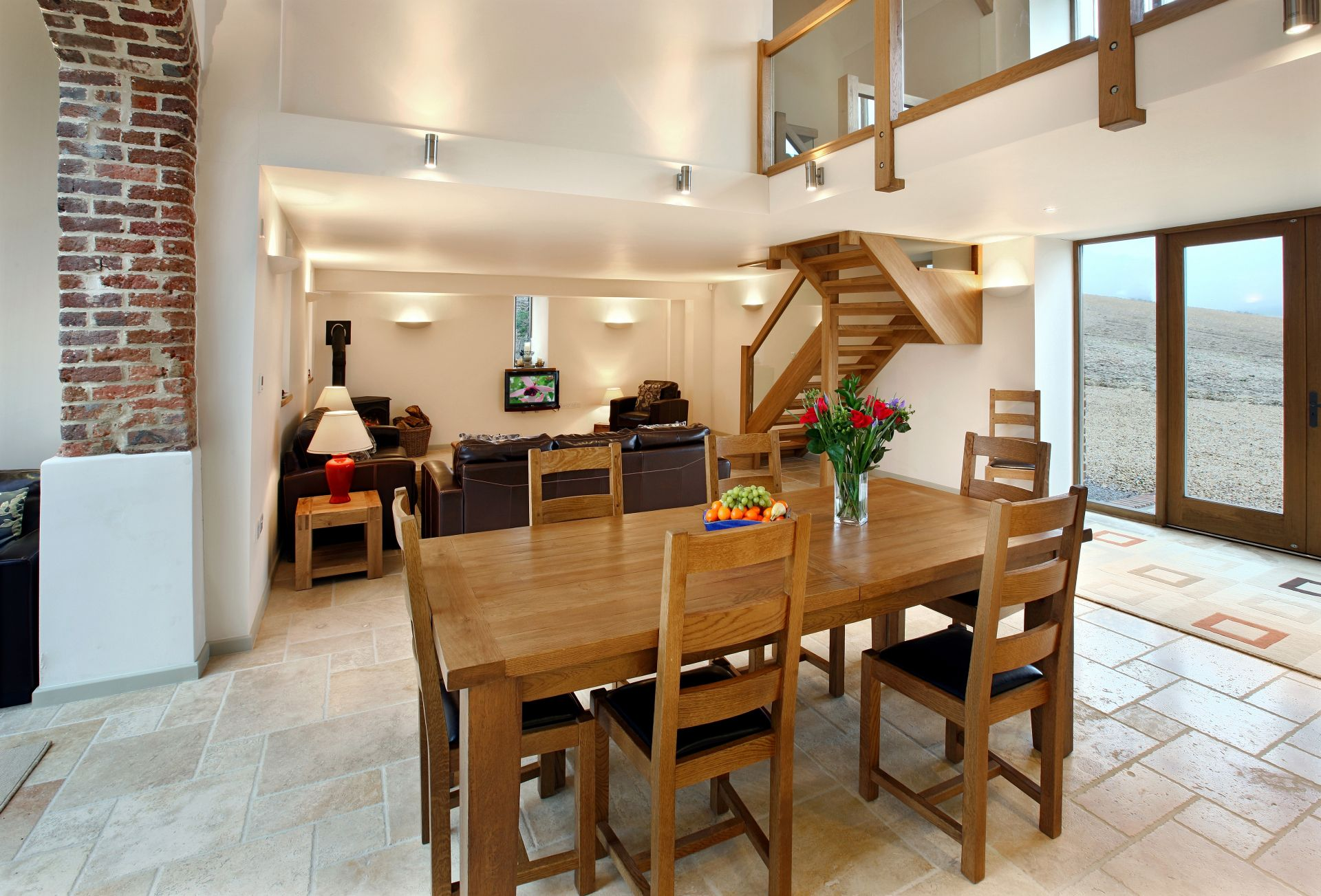 Ground floor:  Open plan dining area