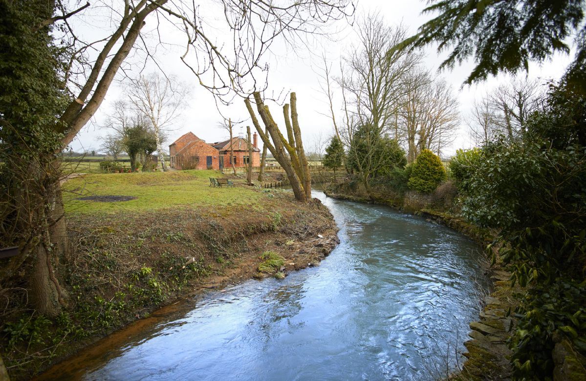 The River Dove runs through the grounds