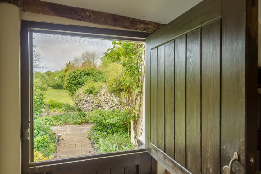 Stable door at the back of the house