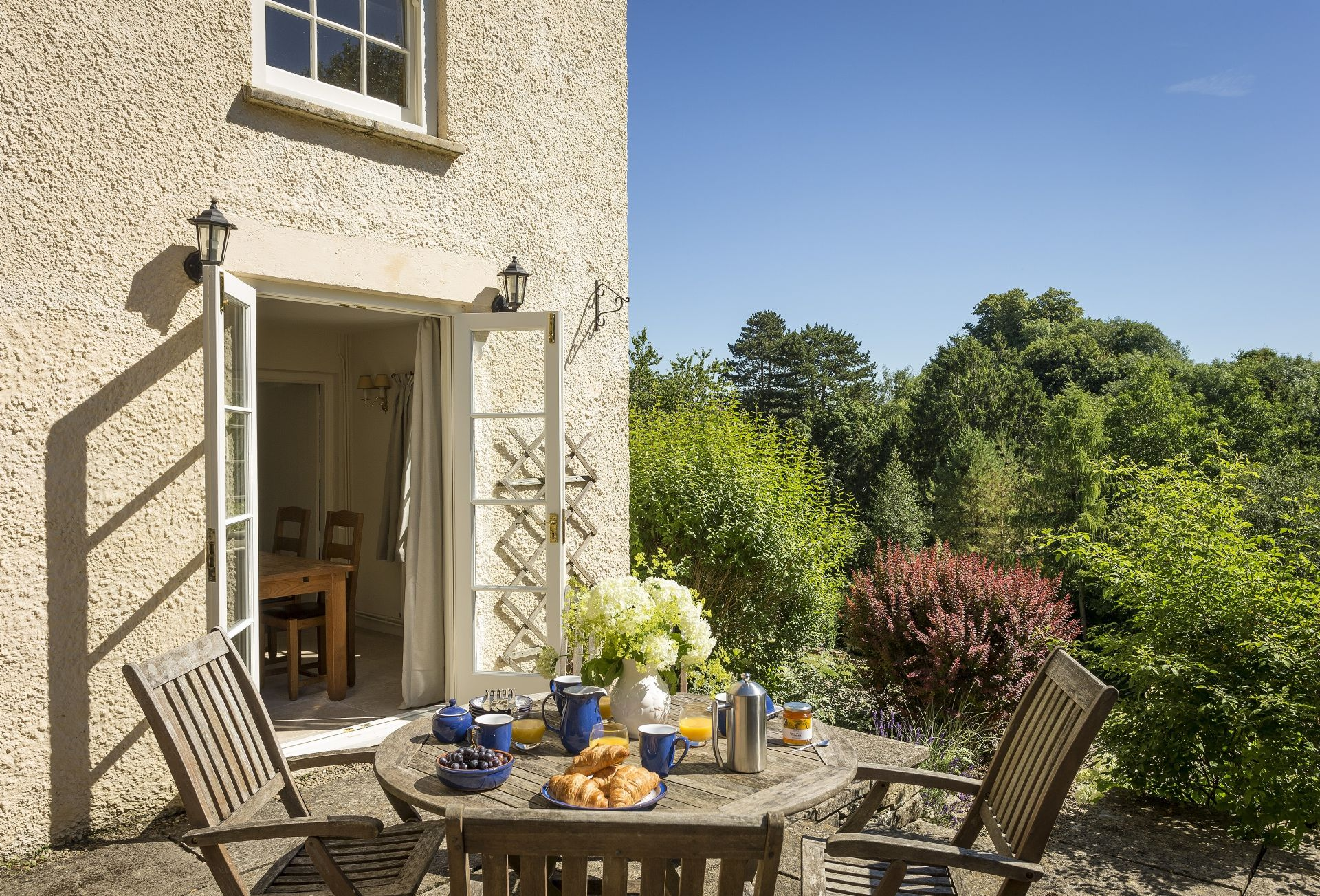 Exterior ground floor: French doors leading out to the outdoor entertaining area