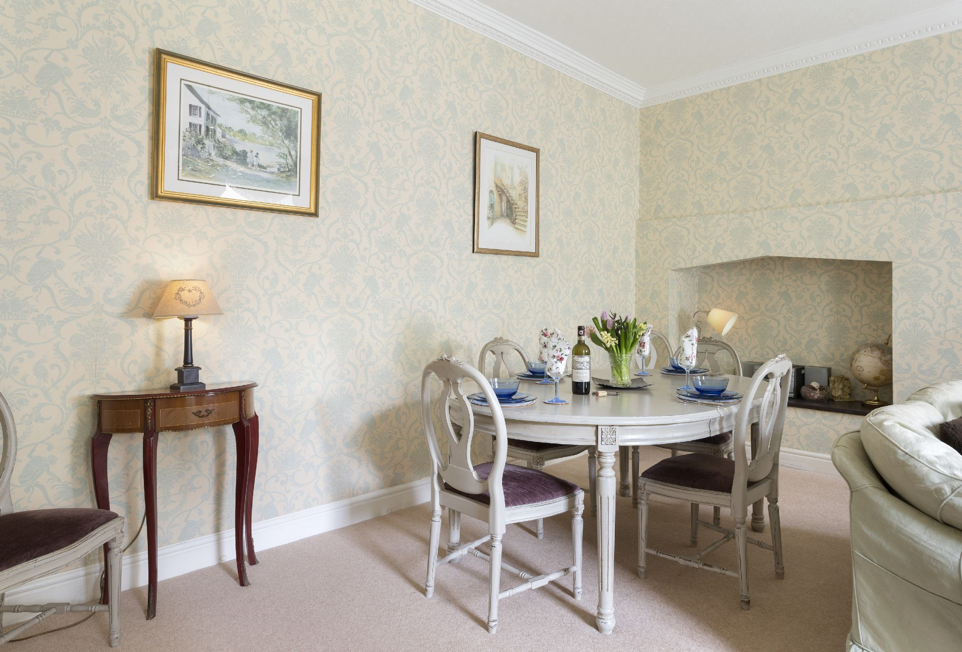 Lower ground floor:  Dining area of sitting room
