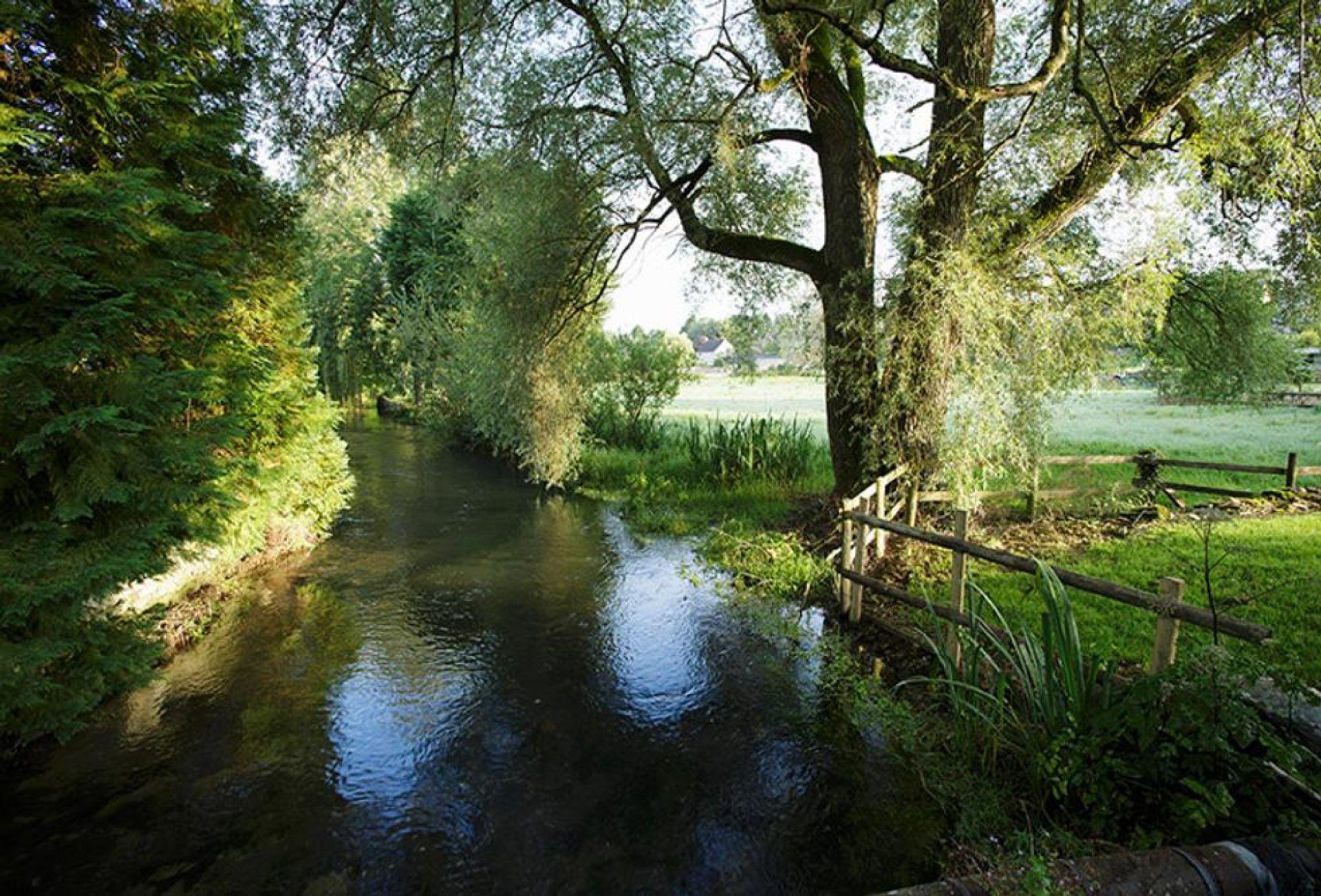 The river that runs through the village