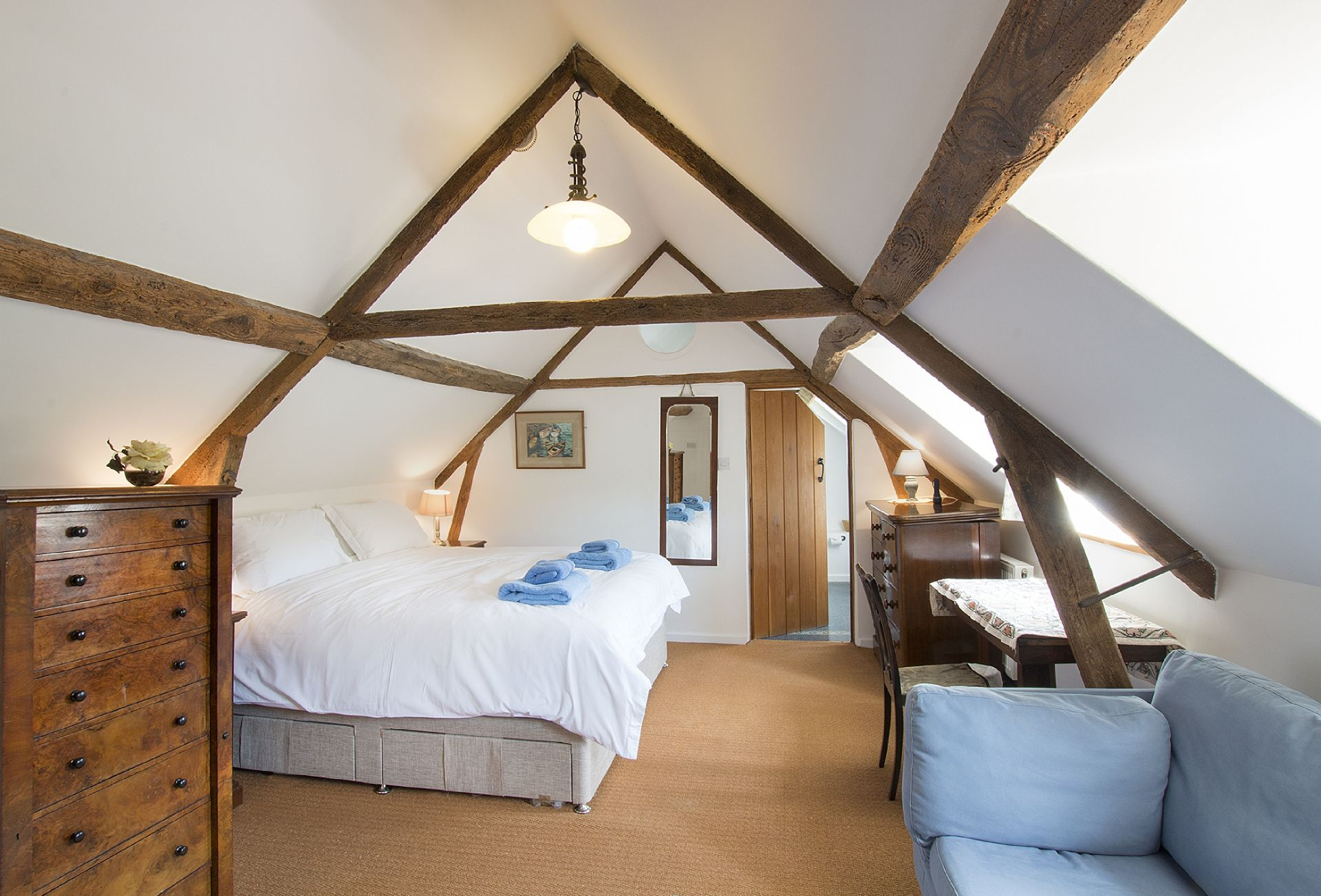 First floor: Double bedroom with 6' zip and link bed which can convert to two 3' singles upon request