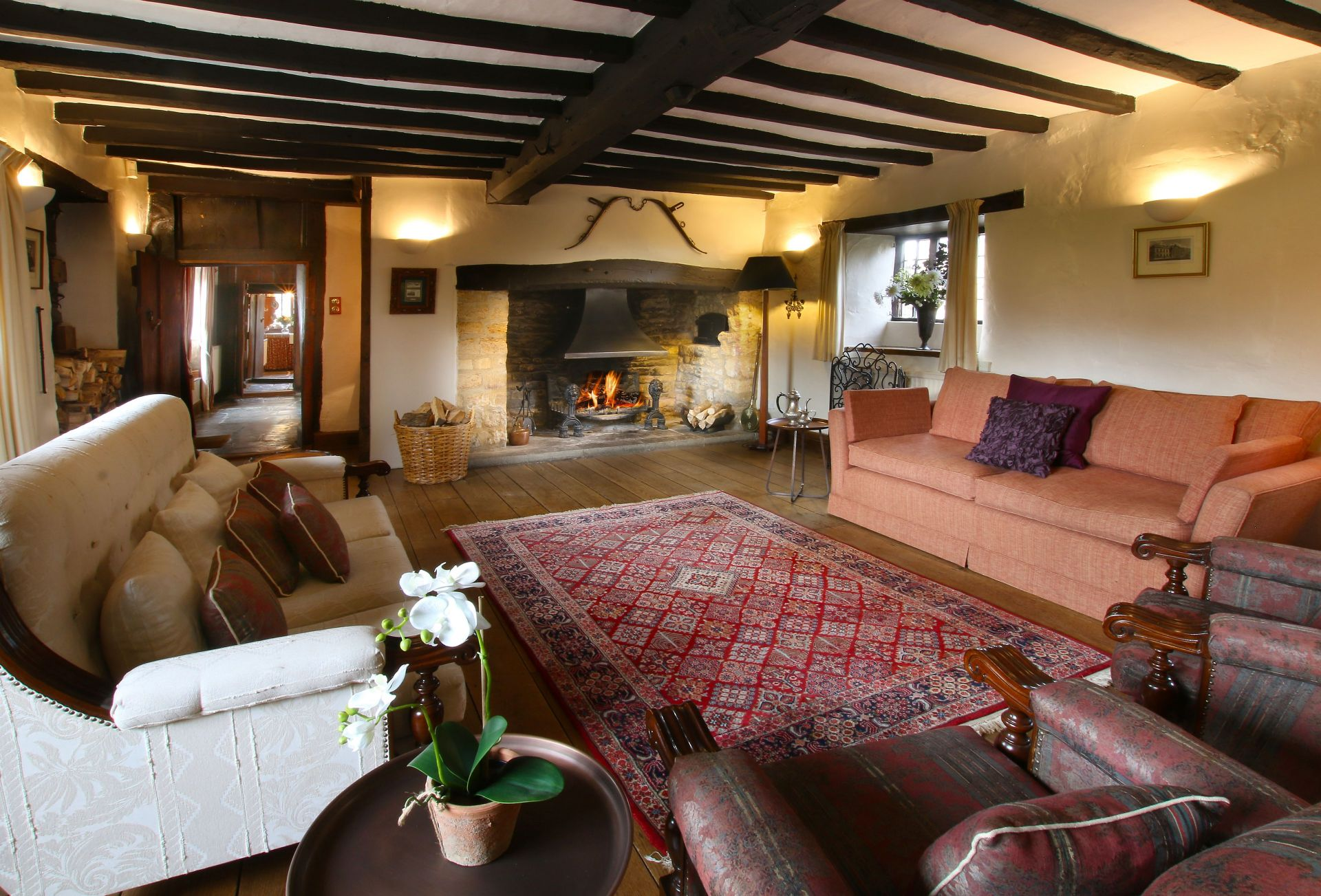 Ground floor:  Elegant sitting room with inglenook fireplace