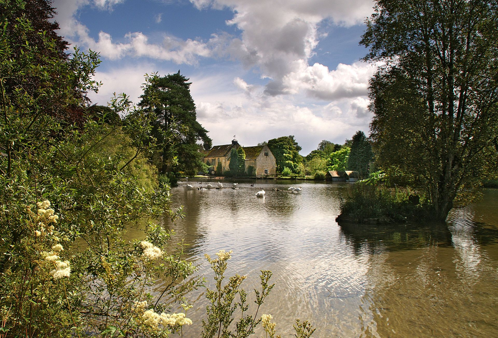 A view across the lake