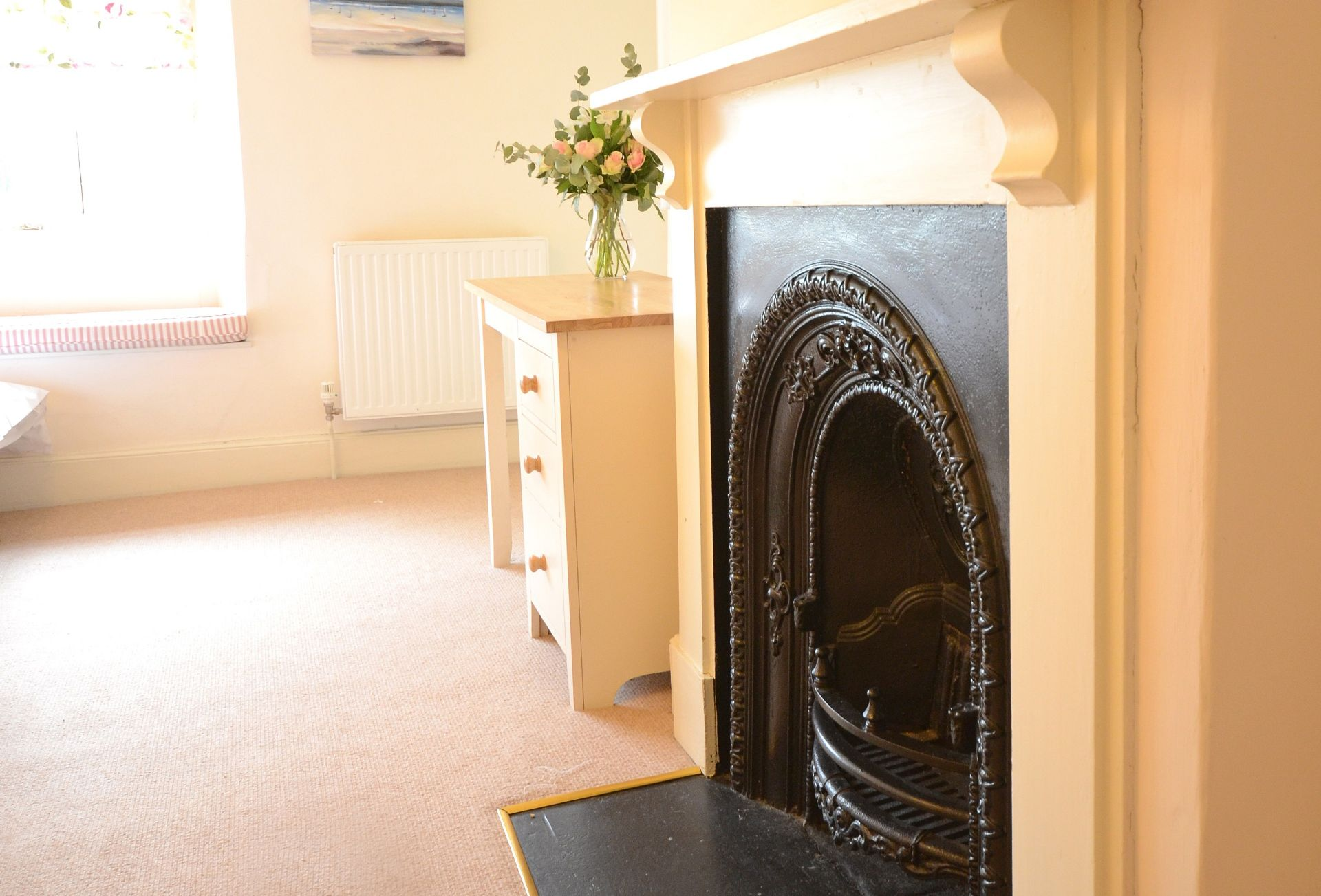 An aspect of the fireplace