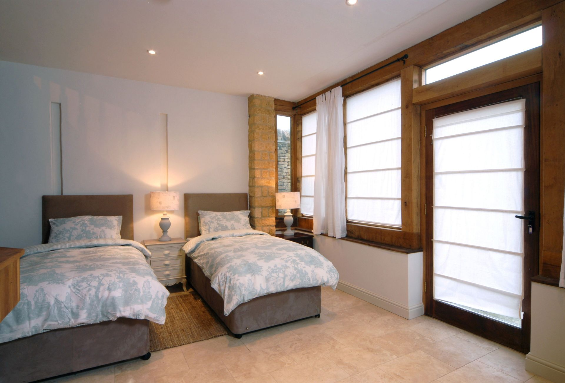 Ground floor Annexe:  Bedroom seven which can either be made up as two singles or a king-size bed