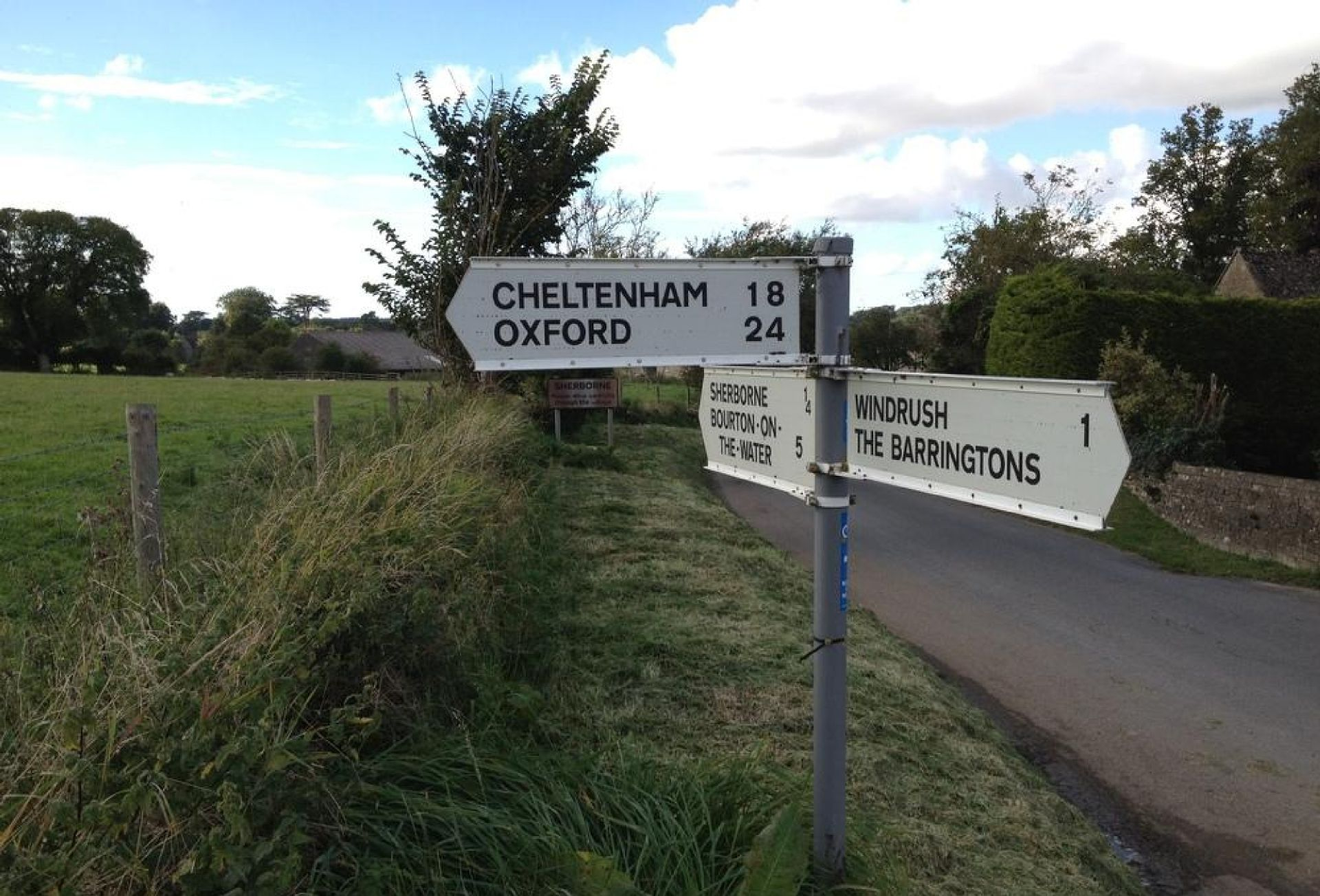 Oxford and Cheltenham are approximately 20 miles away