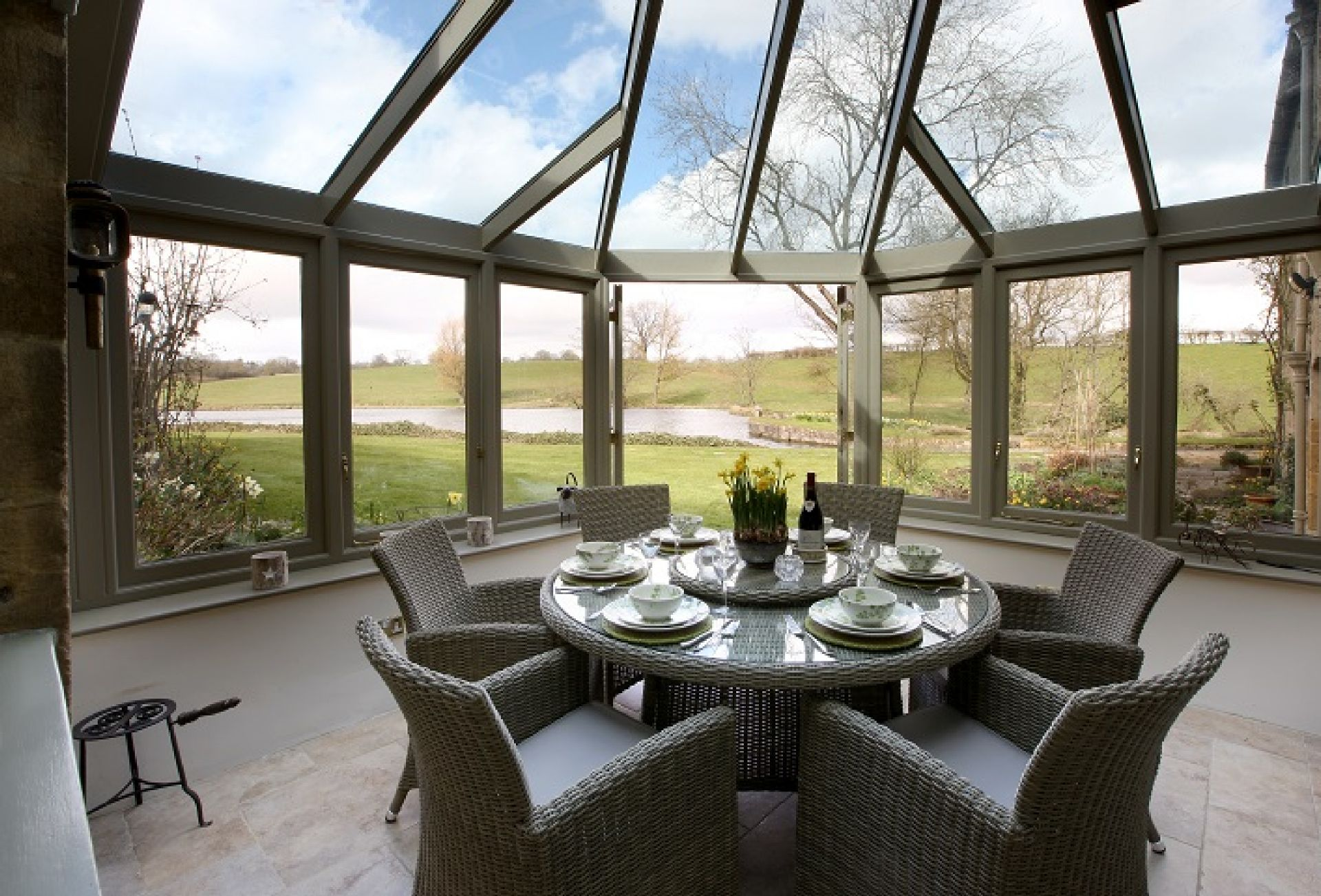 Ground floor: Conservatory dining room with magnificent views