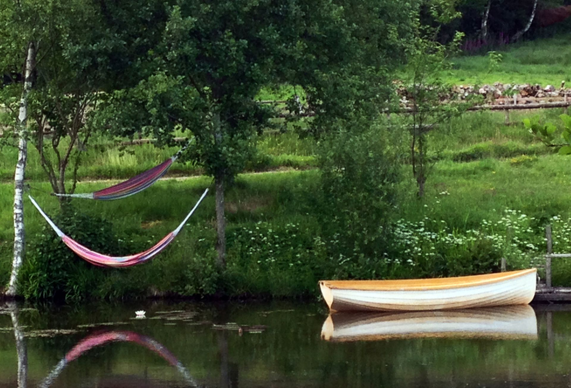 Hammocks on the lake
