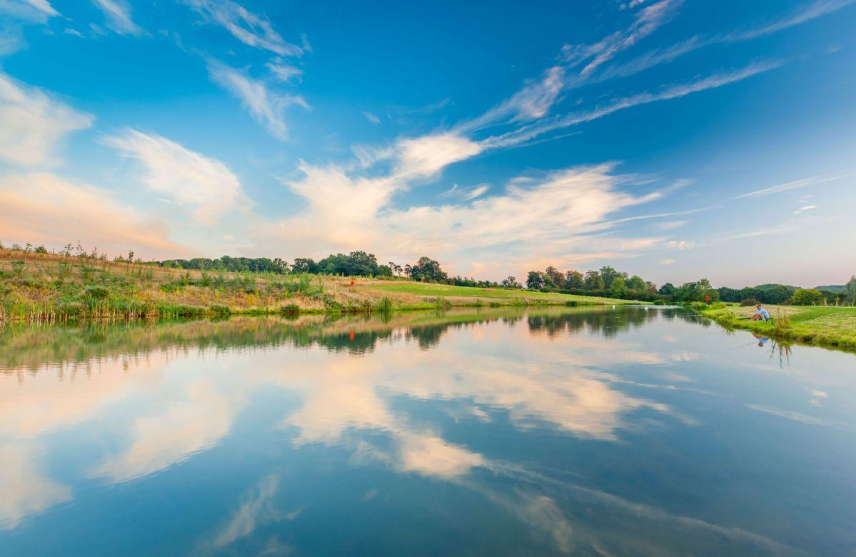 The stunning fishing lake