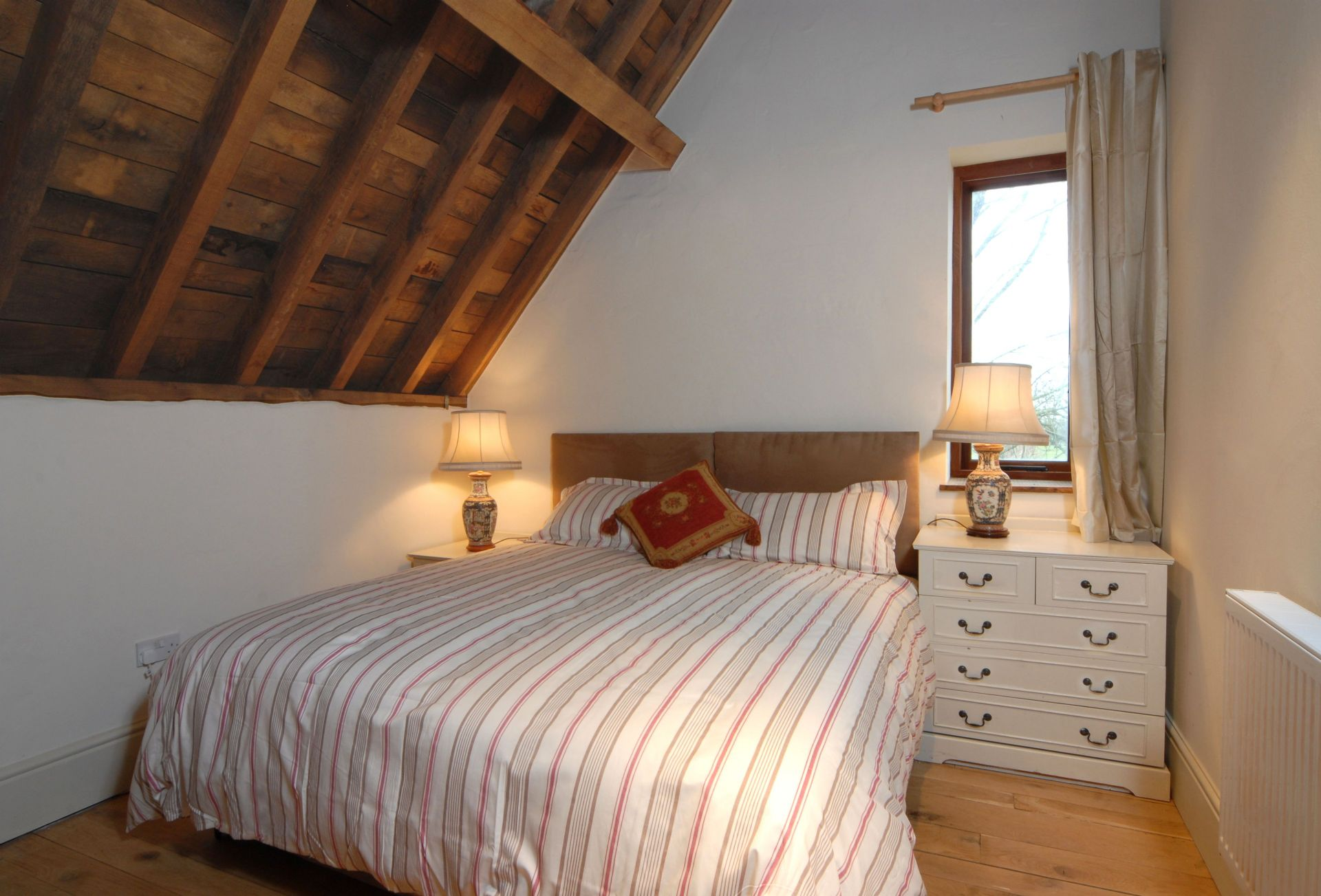 Watery Park Barn First floor:  Bedroom with king-size bed which can be made into two single beds