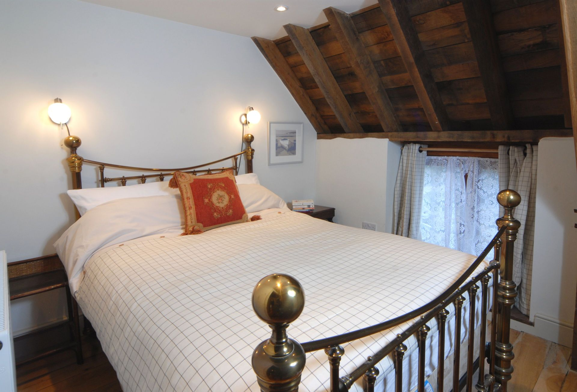 Watery Park Barn First floor: Bedroom four with double bed