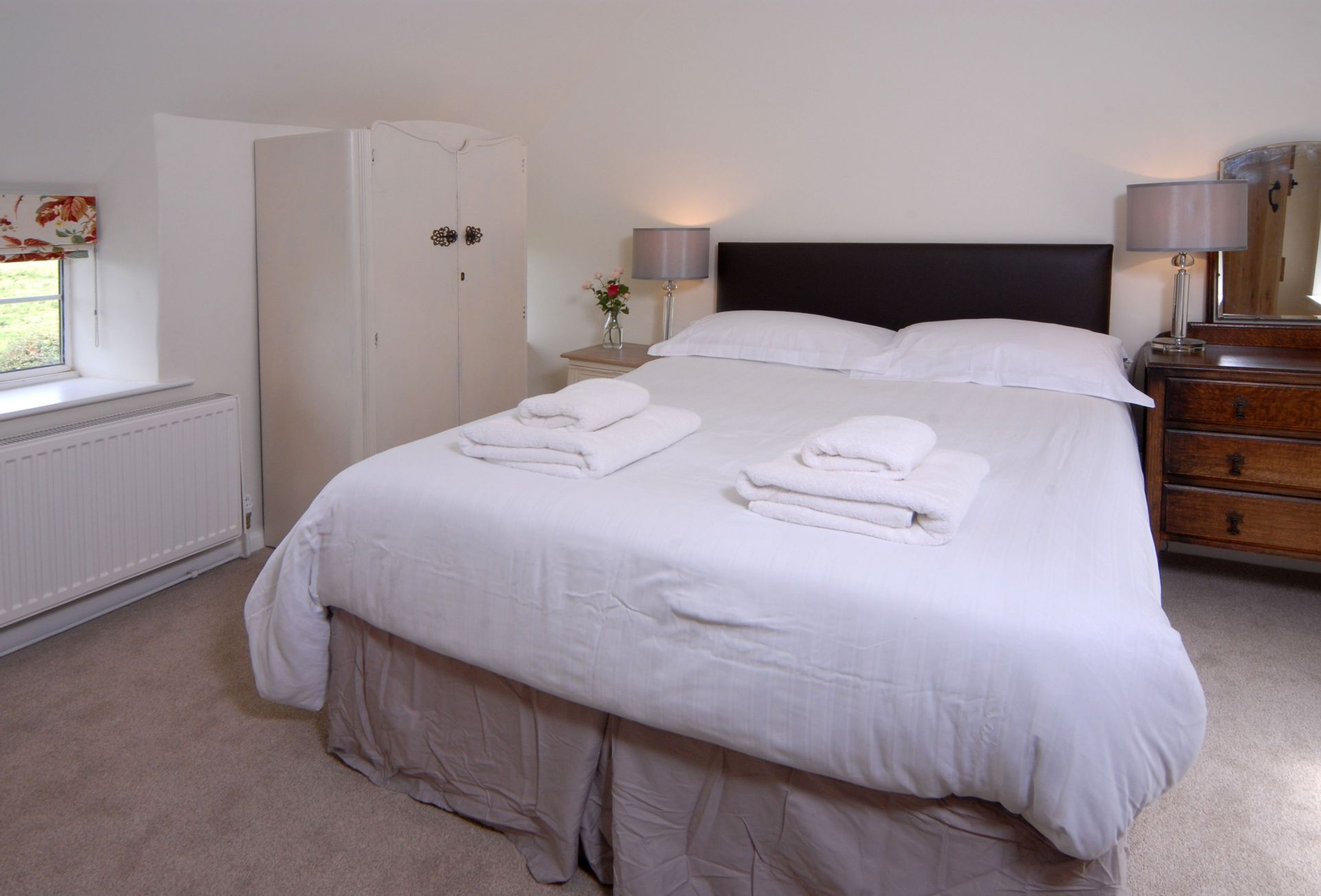 Hiron's Piece First floor: Bedroom four with double bed