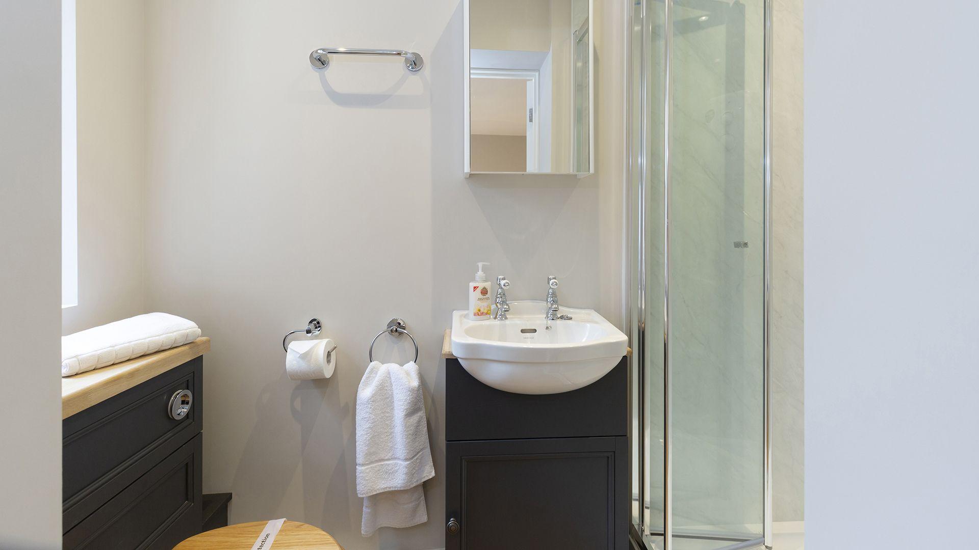 En suite shower room in annex, 14 Vineyard Street, Bolthole Retreats
