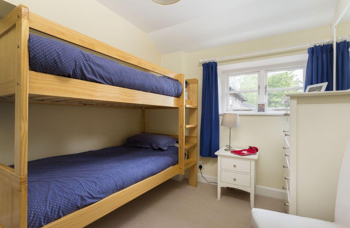 First floor:  Bedroom three with bunk beds, suitable for children