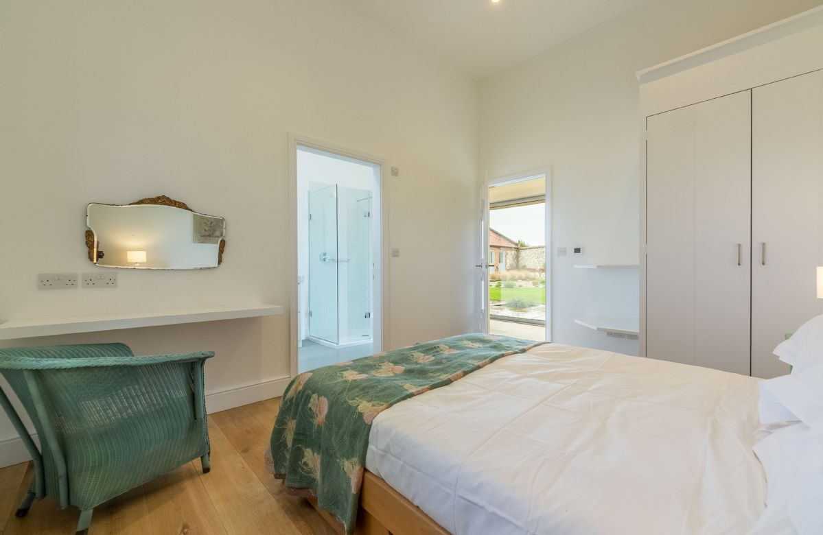 Ground floor:  Master bedroom with double bed