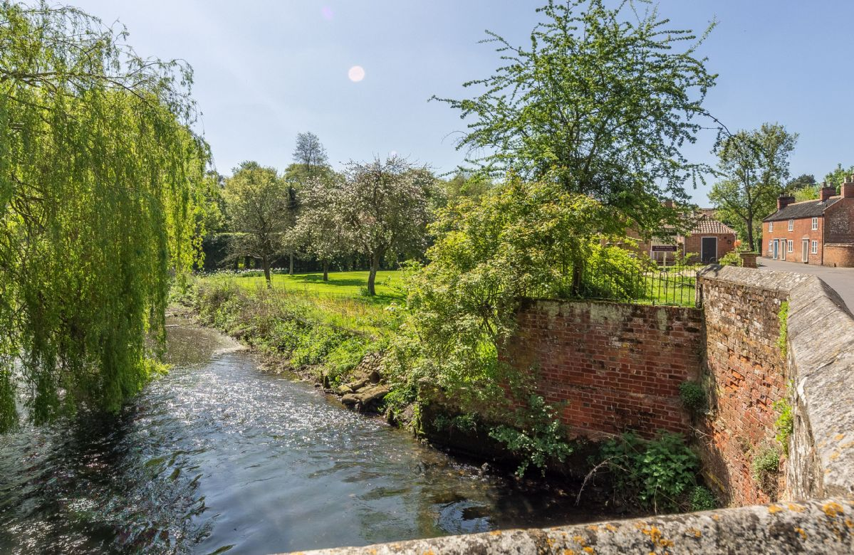 Bridge Cottage is close to the River Bure